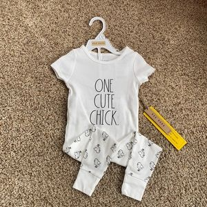 NWT Rae Dunn One Cute Chick pajamas